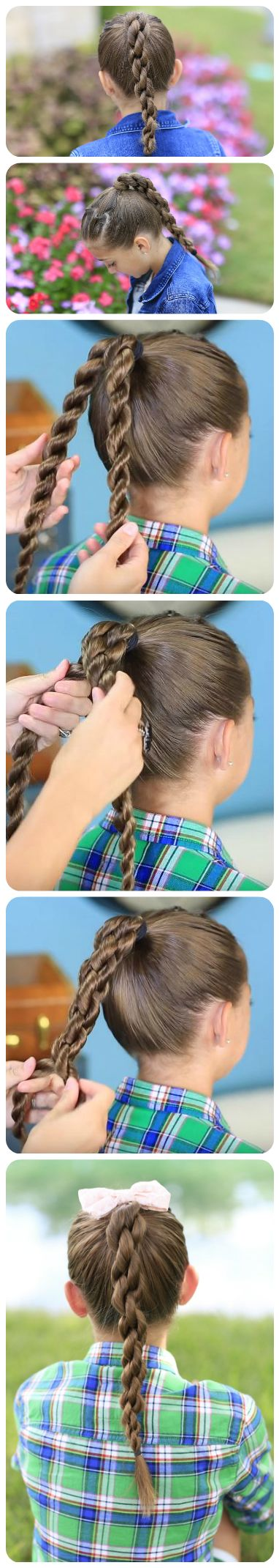 Perfect Chain Link Braid. the tip or trick for this braid is :  (individual over left --> the  roped braid over right ,versa versa )  means: If you doing the individual rope/twist to the right then ov (Basketball Hairstyles)