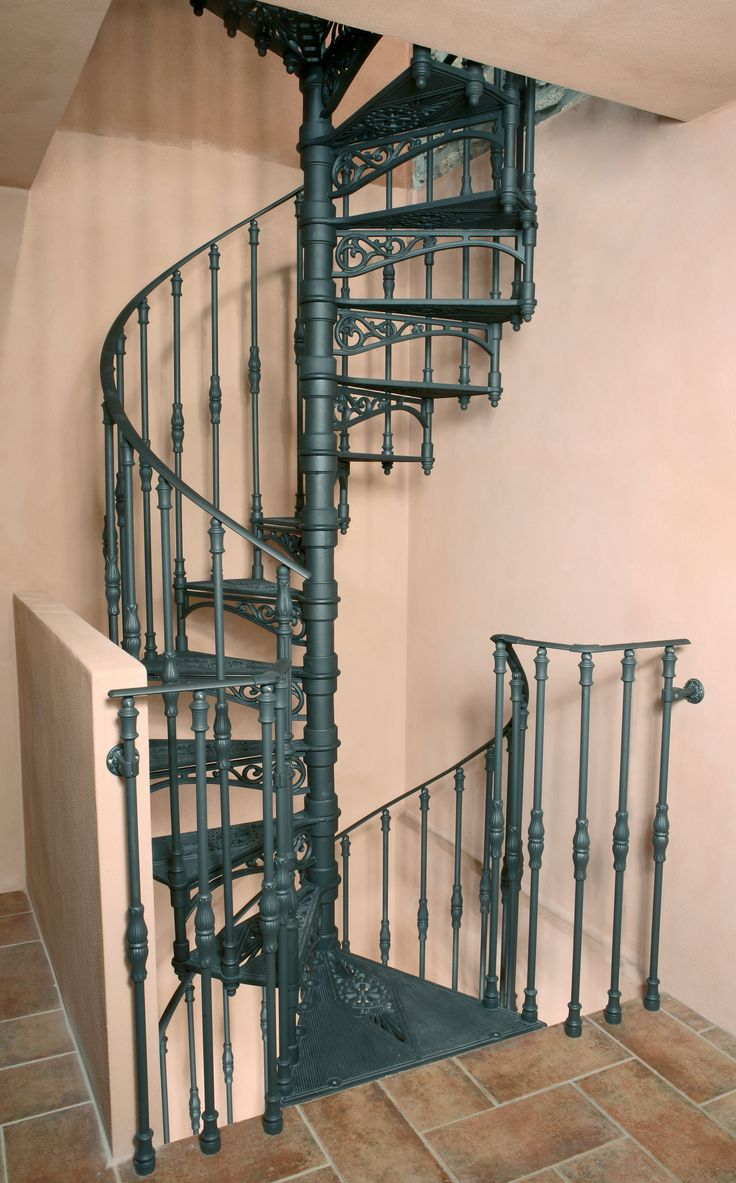 Cast-iron spiral staircases – 2010 S Ø 120 cm – Two flights, balusters with floral ornament http://www.modus.sm/en/products/spiral-staircases/cast-iron-starcases/special-projects/staircase-with-two-or-more-flights/nd.asp?ID0=1291&ID0_=1291&ID1=1314&ID1_=1314&ID2=2625&ID2_=2625&ID3=2291&ID3_=2291&ID4=2292&IDProdotto=2870&L=EN #Modus #ModusStaircase #indoorfurniture #inspiration #castiron #staircase #spiralstaircase #ghisa #scaleachiocciola #design #interiordesign #specialproject #follow