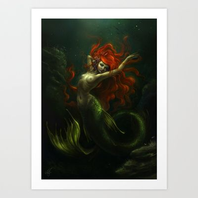 Little Mermaid Art Print by Caroline Jamhour - $18.00