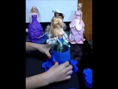 Video Aula-Boneca Vestido EVA (Papoula Portuguesa)-Parte 2 - YouTube