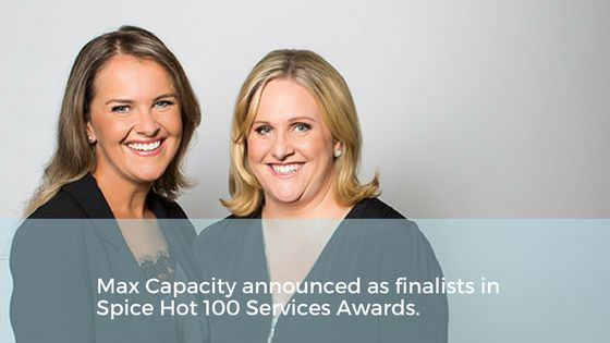 Melbourne hospitality consultants Max Capacity awarded as Best Support Services in the Spice News and Magazine Awards.