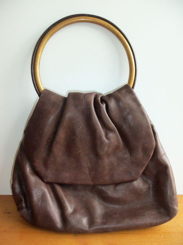 circle handbag real leder from the 1940