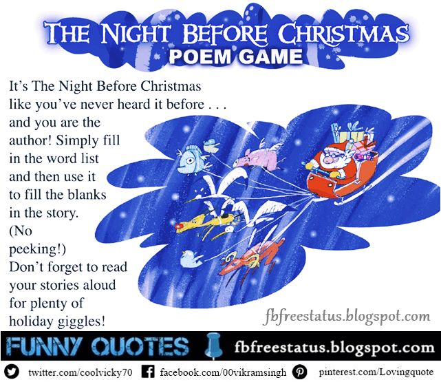 Funny Christmas Poems, Funny Merry Christmas Poems,