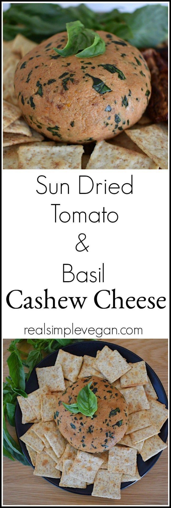 Vegan Sun Dried Tomato and Basil Cashew Cheese | Real. Simple. Vegan. (scheduled via http://www.tailwindapp.com?utm_source=pinterest&utm_medium=twpin)