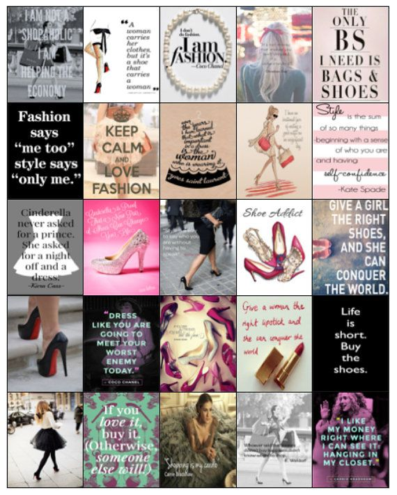 This listing is for one (1) set of 25 different Fashionista Quotes/Images that fit perfectly into the Erin Condren Life Planner Squares. They