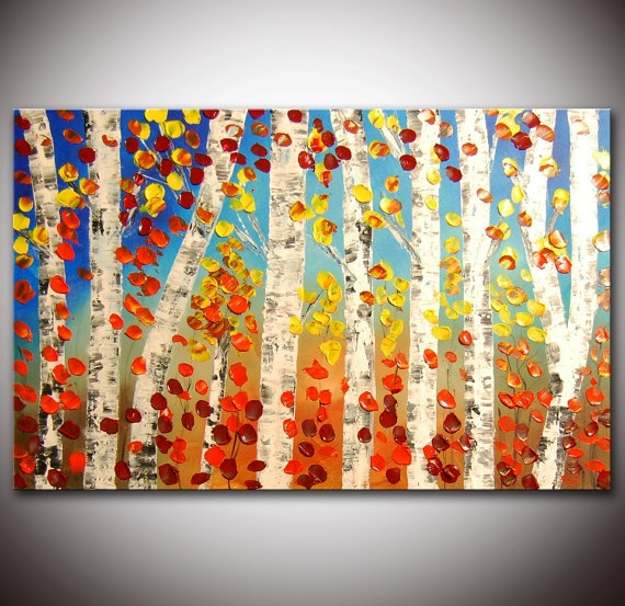 I love this fall painting at Flowerartpainting.