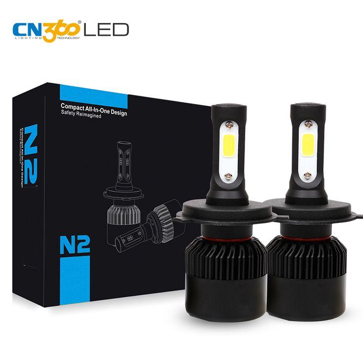 CN360 2 UNID H4 H7 H11 9005 HB3 HB4 9006 LEDSingle/Hi-lo Haz COB viruta Auto Del Coche Niebla de la Linterna de Luz 6000 K 72 W 8000LM 12 V Todo En uno