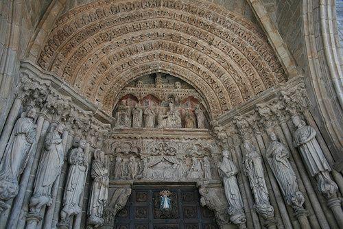 Pórtico occidental da catedral de Tui (Pontevedra)
