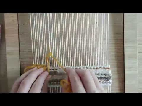Loom weaving tutorial for beginners: How to make rya loops - YouTube