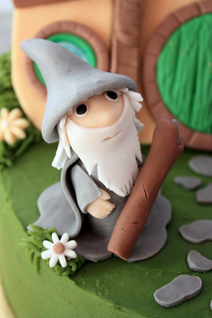 The hobbit cake - Frodo & Gandalf -