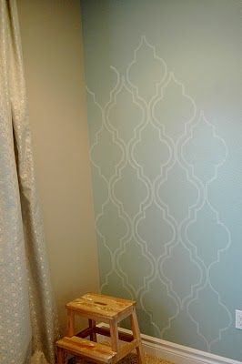 """painted """"wallpaper""""Accent Wall"""