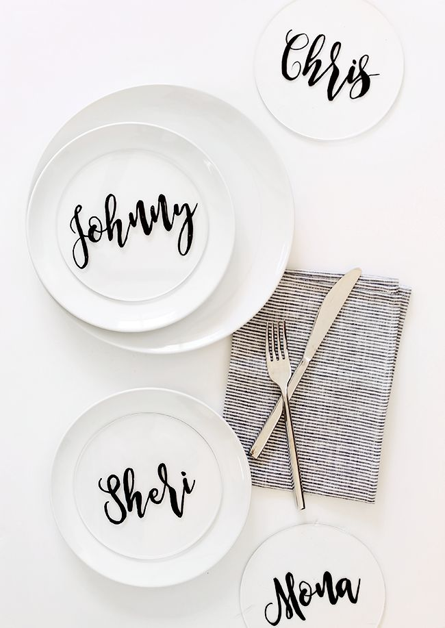 are you ready for one of the easiest and most satisfying place card DIYs ever?! i came up with this idea and had finished them a few hours later. if you DIY, you might know that doesn't happen ofte...