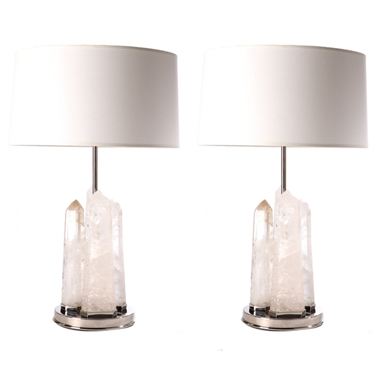 pair of rock crystal obelisk lamps 1st dibs obeliskhome lightingtable lampsgemsbrassdecoration - First Dibs Home Decor