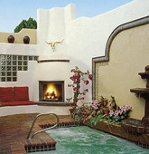 """El Rey Named One of TOP 10 Lodging Choices in America by SUNSET Magazine!   """"A traditional 1930s roadside motel along what was once Route 66, the El Rey is a 5-acre tangle of gardens, courtyards, and patio nooks. The 86 rooms are filled with paintings, carved headboards, and armoires by local artists..."""" El Rey Inn offers continental breakfast, sauna, spas, large in-season pool, and true Southwestern hospitality at a reasonable rate. #Santa Fe #Getaway"""