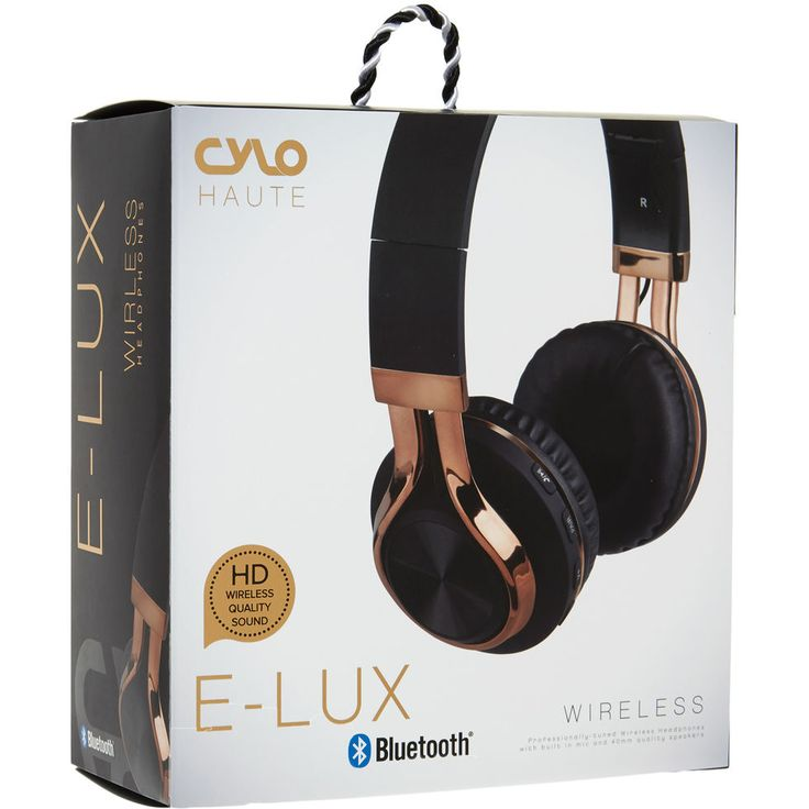 Black & Gold Tone Wireless E-Lux Headphones - Novelty Gifts - Gifts - TK Maxx