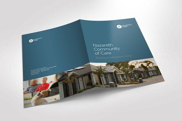 Nazareth Community of Care presentation folder by Robertson Creative