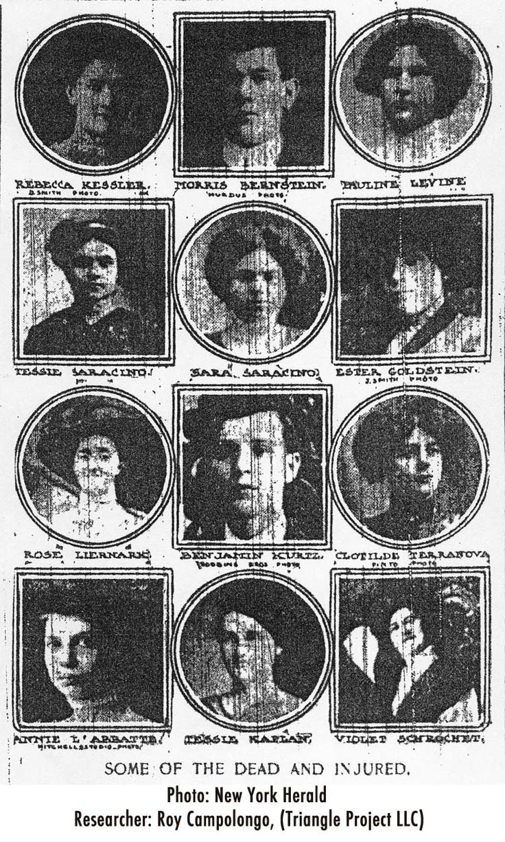 The young women - GIRLS - lost in the preventable tragedy of the Triangle Shirtwaist Fire on March 25, 1911.  146 victims in only 18 minutes, some identified as late as 2011.  Immigrants in search of a better life and future.