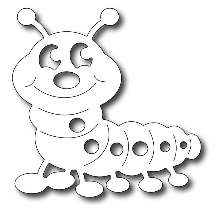 Frantic Stamper Precision Die - Cute Caterpillar
