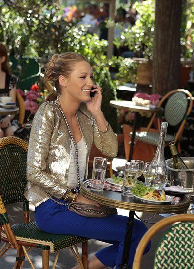 Serena at Cafe de Flore