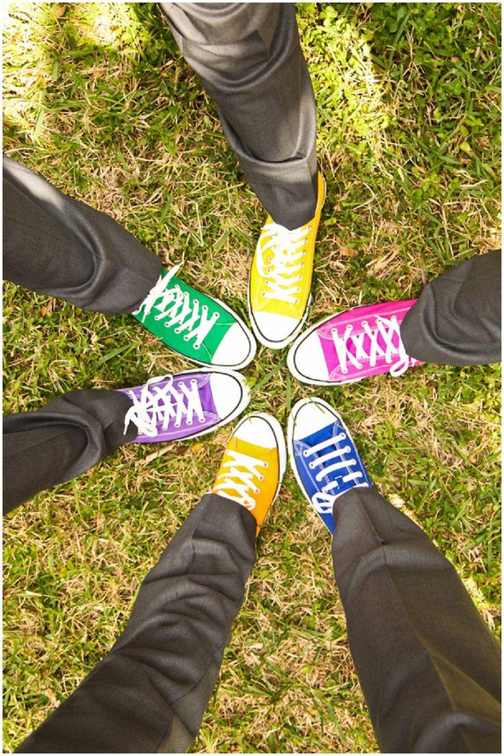 rainbow themed wedding colors // Photographer: Krystal Zaskey Photography