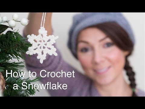 How To Crochet a Snowflake - YouTube.   I've been making a bunch of these with some white cotton yarn that was donated to me ages ago. Glad I'm finally putting it to good use.