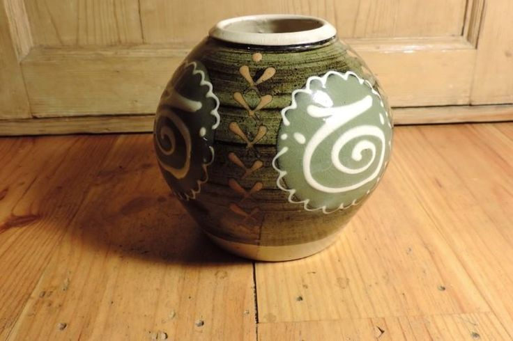 Early George Cook vase Ambleside Pottery