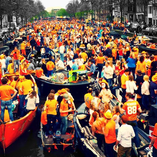 Kings Day #amsterdam #kingsday #party #netherlands