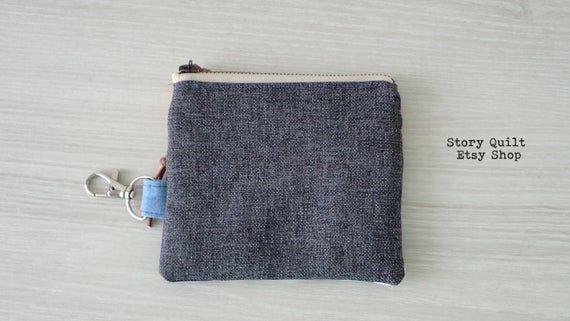 einzigartiger kleiner Reißverschlussbeutel / Schlüsselkettengeldbeutel / Schlüsselbeutel / Bild 3   – Handmade Etsy