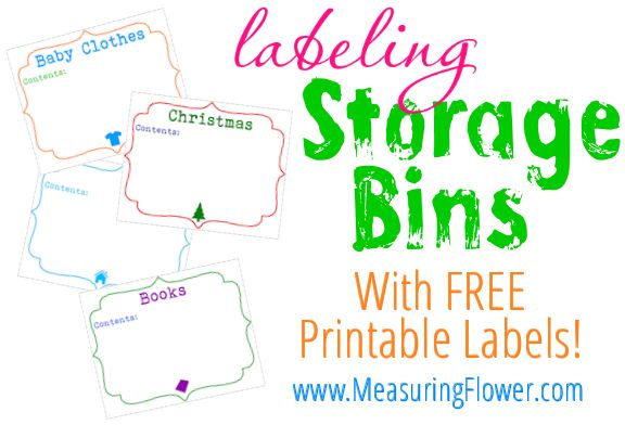 Learn A Handy Attractive Way For Labeling Storage Bins Includes Free Printable Bin Lab Holiday Storage Labels Storage Labels Printable Labels Printables Free