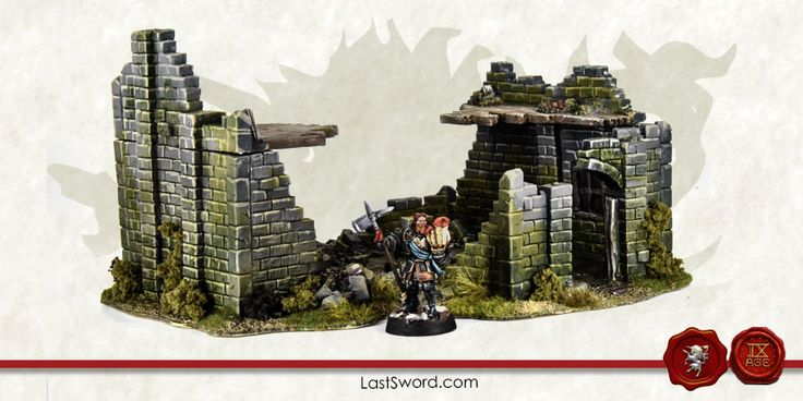Big ruined house for Warhammer fantasy, Mordheim, frostgrave, Kings of war and others wargames.