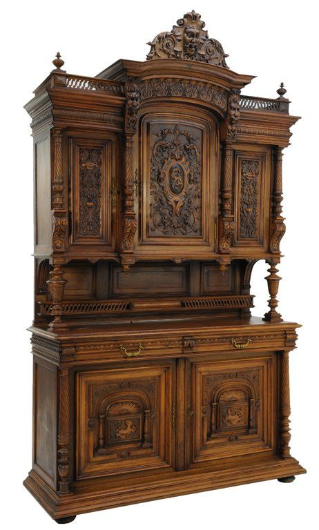 A RENAISSANCE REVIVAL STYLE BUFFET WITH DRAGON AND GARG : Lot 105