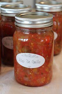 Life in a Little Red Farmhouse: Canned Pico De Gallo