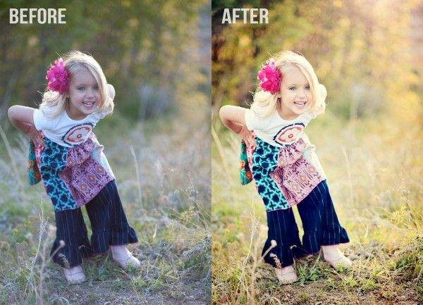 How to Use Photoshop Actions To Add Golden Light