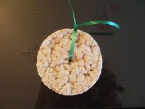 Rice cakes on a string. So easy! Make sure they are plain and contain minimum ingredients