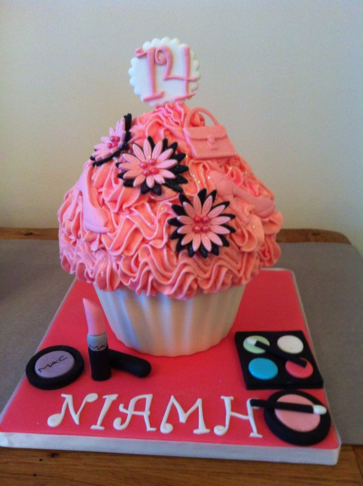 Large cupcake cake