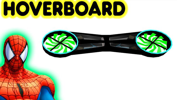 Toy Hoverboard Video For Kids Game With Superhero Spiderman #Hoverboard #toys