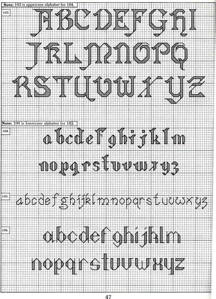 167 Best Images About Cross Stitch Alphabets On Pinterest