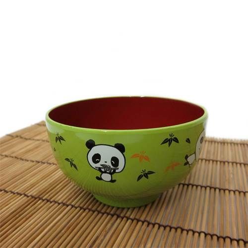 This green Panda Bowl with a red interior is absolutely adorable. The perfect way to serve soup, rice or cereal to your child.