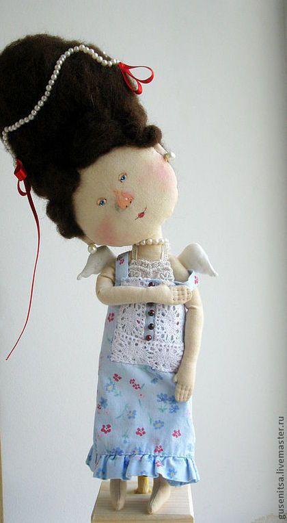 Коллекционные куклы ручной работы. Бретелька.... Анастасия Побережец. Ярмарка Мастеров. Девочка, бисер чешский