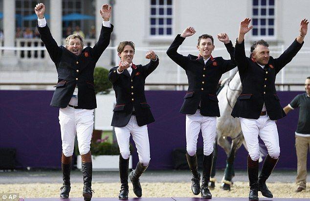 No 17: Gold medalists Nick Skelton, Ben Maher, Scott Brash and Peter Charles