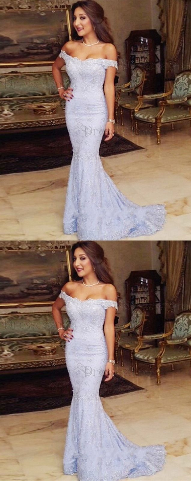 elegant blue prom party dresses with appliques, fashion formal evening gowns for special occasion, #dresses #partydress