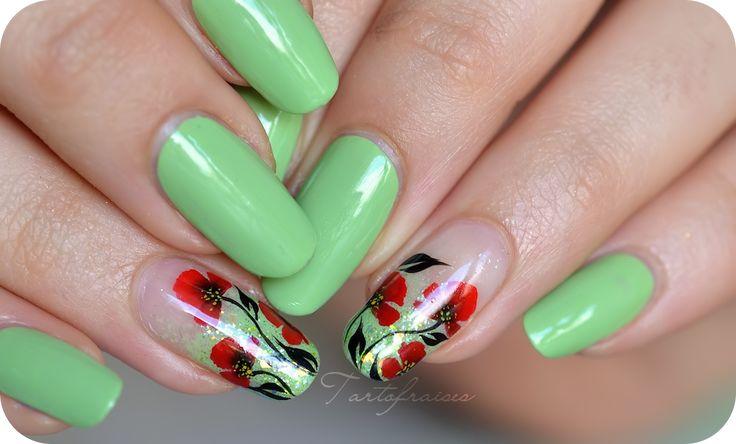 tartofraises nail art one stroke