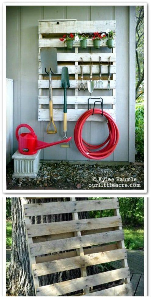24 praktische DIY-Aufbewahrungsideen, um Ihren Rasen und Garten zu organisieren.