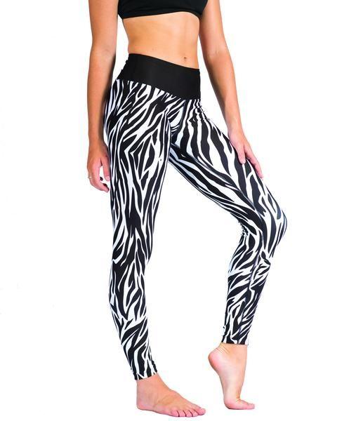 Into the wild with our Safari, Zebra print full length leggings.