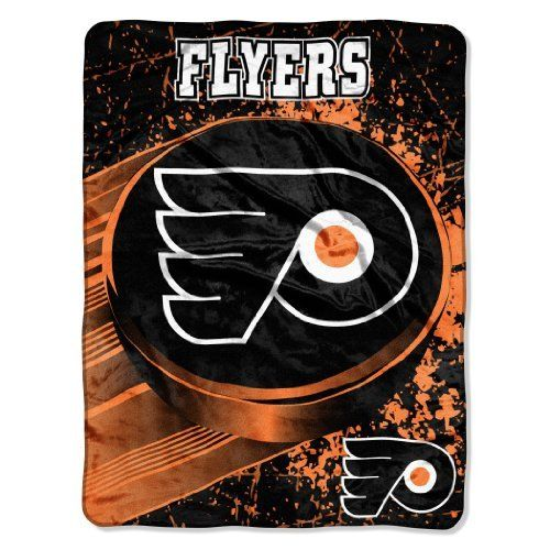NHL Philadelphia Flyers Ice Dash Micro Raschel Throw Blanket 46x60Inch *** You can find out more details at the link of the image.