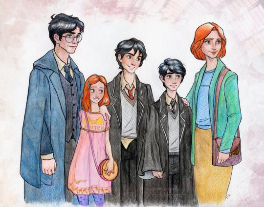 The Potters - Harry and Ginny with children by Dinoralp