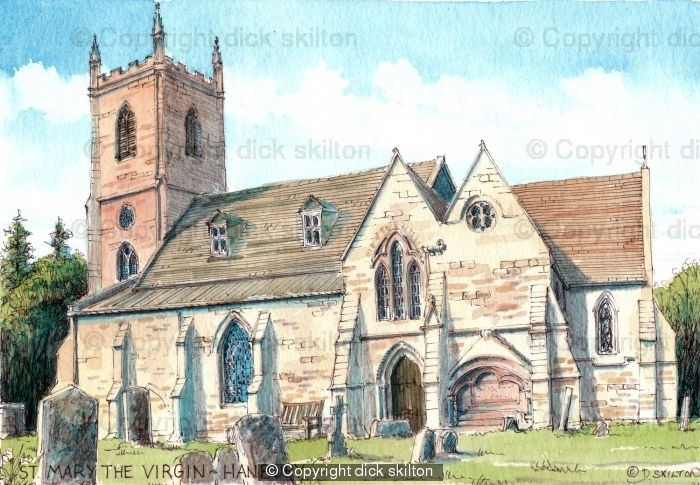 Hanbury Church St Mary The Virgin Worcestershire As A Signed Laser