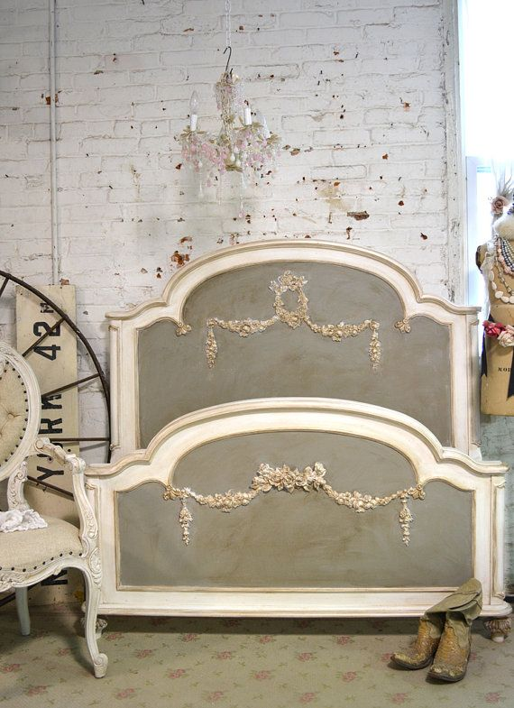 Painted Cottage Romantic French Bed SSBD25 by paintedcottages
