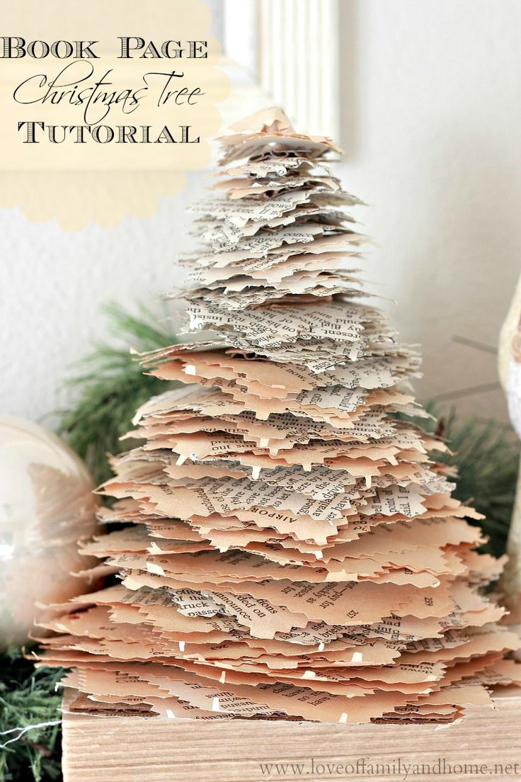 Love Of Family & Home: Book Page Christmas Trees {Tutorial} - Amazing!! #12daysofchristmas