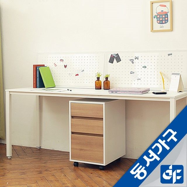 [동서가구]Promotion-s 2인용 책상+서랍세트Hr DF62892B